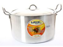 Aluminum Stock Pot with Stainless Steel Lid 12.25 inches - 13 Qrt.