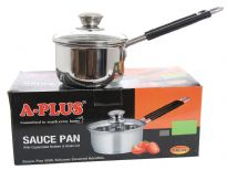 Stainless Steel Sauce Pan with Capsulated Bottom & Glass Lid.