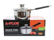Stainless Steel Sauce Pan with Capsulated Bottom & Glass Lid