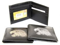 Faux leather eagle bi-fold wallet