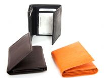 Genuine cow-hide Tri-fold men wallet