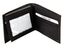 Genuine leather bi-fold men wallet