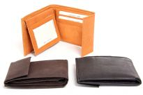 Genuine leather bi-fold men wallets