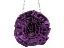 Rose Flower (Both Sides) Satin Evening Bag