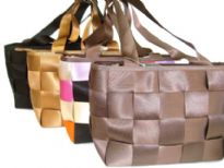 Designer Inspired Poly Weave Handbag