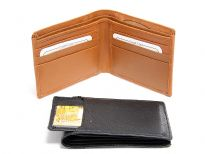 Carry your money in style. This is a genuine cowhide bi-fold wallet with pull out ID card. As this is genuine leather, please be aware that there will be some small creases and nicks in the leather but the wallet are all brand new.