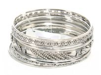 Metal Bangles (9 pieces set)