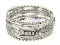 Metal bangles( 9 pieces set)