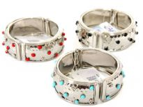 "Metal Folding Bracelet Size: 1"" Broad, (12 PCS Box)"