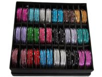 Sets of 7 pieces Aluminum Bangles, Box contains 36 sets - 18 colors 2 sets each