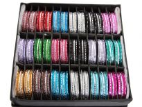 Sets of 7 pieces Aluminum Bangles, Box contains 36 sets - 18 colors, 2 sets each