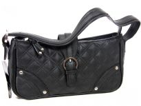 PVC Quilted Fashion Handbag. Top zipper closing.