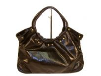 Designer Inspired Mesh pattern Hobo Handbag has a snap closure and a ring double handle. Made of PU (polyurethane).