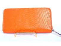 Genuine Leather all round zipper ladies wallet