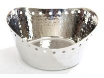 Hammered Stainless Steel Bread Basket