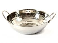 Stainless Steel Balti Dish - Hammered by Hand