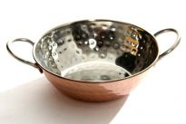 Stainless Steel Copper Plated Balti Dish