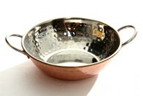 Stainless Steel Cooper Plated Balti Dish