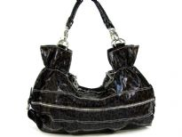 Fashion Hobo bag has a double strap, a top zipper closure and a cheetah print pattern. Made of PU (polyurethane).