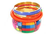 Five pieces bangles set