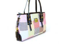 Designer Inspired Peace Sign Patch Handbag