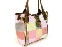 Designer Inspired Peace Sign Patch Handbag