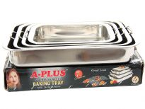 Stainless Steel 4 Pieces Baking Tray set.