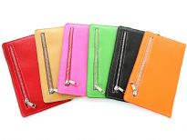 Ladies ID card holder with zipper pocket.