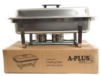Stainless Steel Full Size Chafing Dish. Folding Frame. 