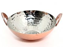 Hammered Stainless Steel Copper plated mini Kadai