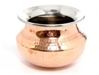 Hammered Copper & Stainless Steel Matka Lotta