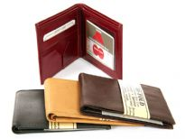 Bifold double bill leather mens wallet. This wallet has 6 slots for various credit cards, and ID cards. As this is genuine leather, please be aware that there will be some small creases and nicks in the leather but the wallet are all brand new.