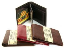 Genuine leather Bi-fold Men wallet
