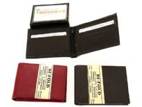 Genuine Leather Men Bi fold Wallet