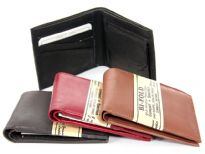 Genuine Leather Men Bi-Fold wallet