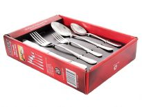 Stainless Steel 20 pieces cutlery set. Hand Buffed and Hand Polished. Made in India