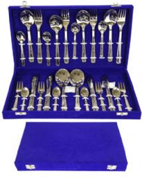 26 piece stainless steel cutlery set. Comes with velvet gift box.