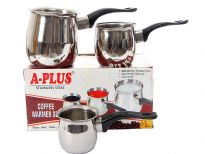 Stainless steel 3 piece coffee warmer set with Bakelite Handle
