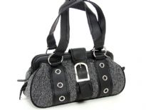 Jacquard Fashion Handbag. Top zipper closing.