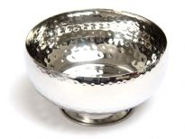 Hammered Stainless Steel Desert Bowl