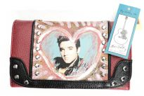 Elvis Presley PVC check book wallet