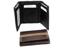 Carry your money in style. This is a genuine leather double bill trifold wallet with elastic band feature. As this is genuine leather, please be aware that there will be some small creases and nicks in the leather but the wallet are all brand new.