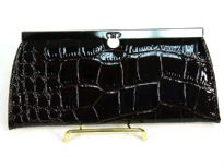 Alligator Skin Embossed PVC Clutch Wallet