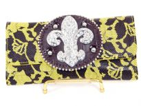 Fleur De Liz PVC Check Book wallet