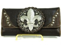 Fleur De Lis Licensed PVC Check Book Wallet