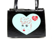 I Love Lucy Bag. Double Handle, center divider and magnetic button closure.