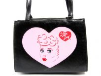 I Love Lucy Bag. Double handle, center divider and magnetic button closure