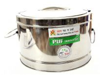Stainless Steel 7.5 Litre hot pot with Puf insulation