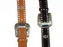 Ladies Belts/Sold Per Dozen. Belt has multi holes detail and a detailed buckle.