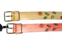Ladies Belt with floral pattern.